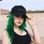 yeşil canlı saç modelleri