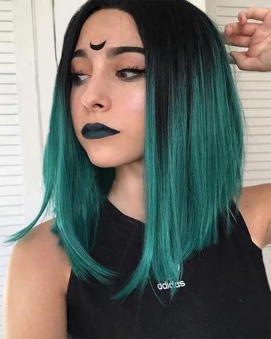yeşil saç ombre