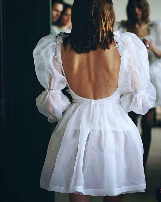 beyaz kısa parti elbisesi