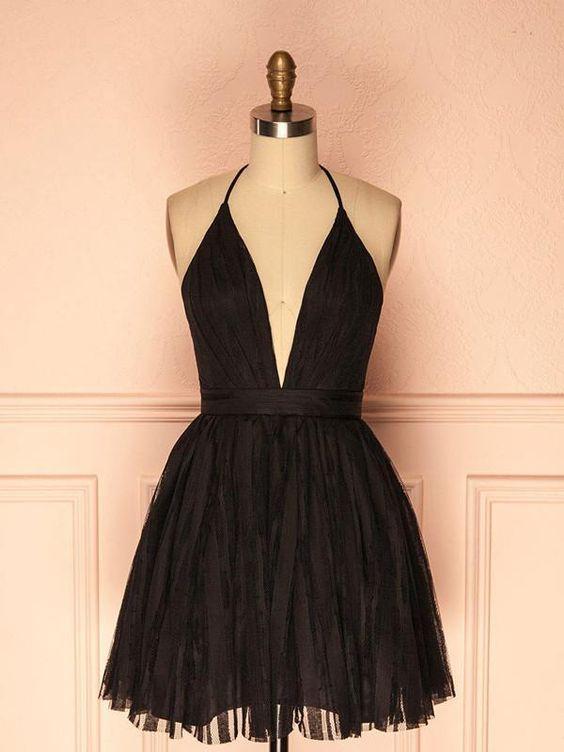neckline black dress modals
