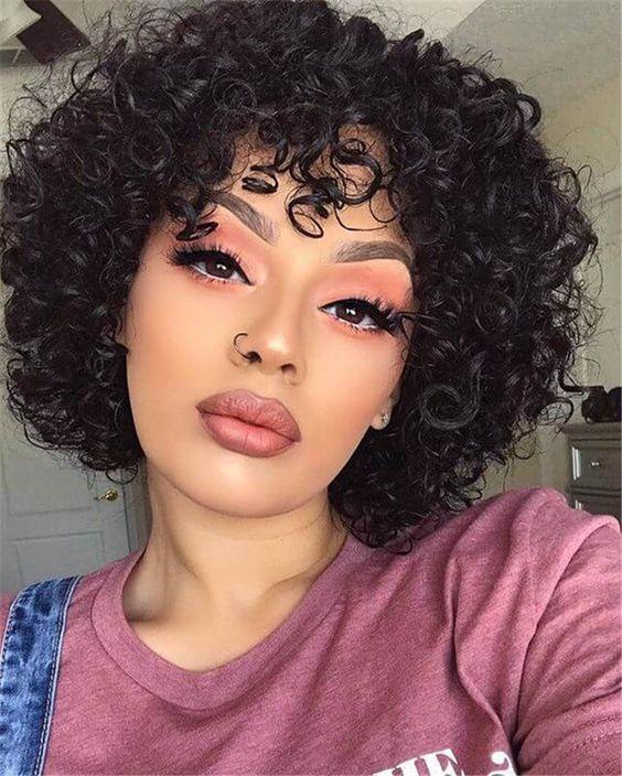 kısa siyah saç modelleri