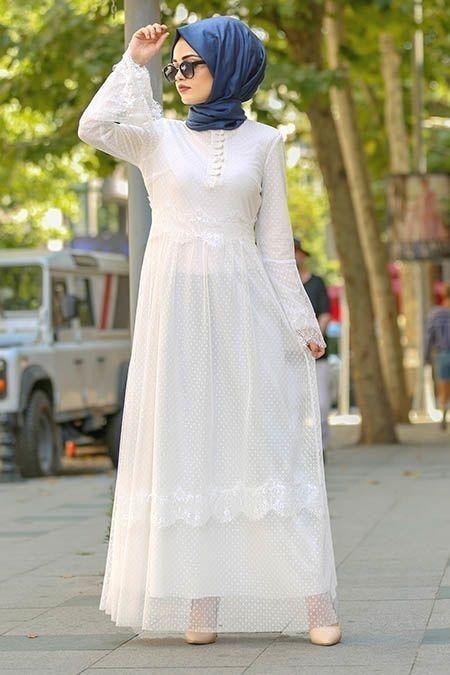 tesettür elbise kombinleri 2020
