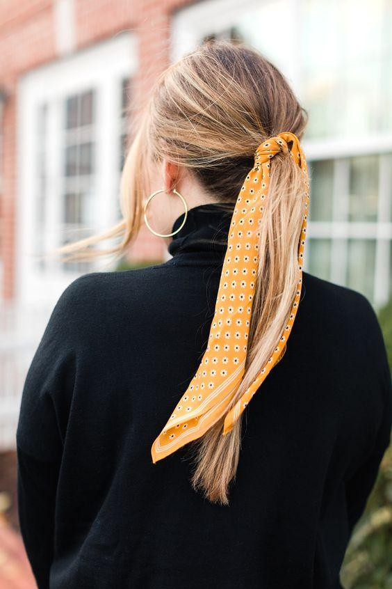 bandana ile saç nasıl toplanır