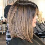 düz fönlü saç modelleri