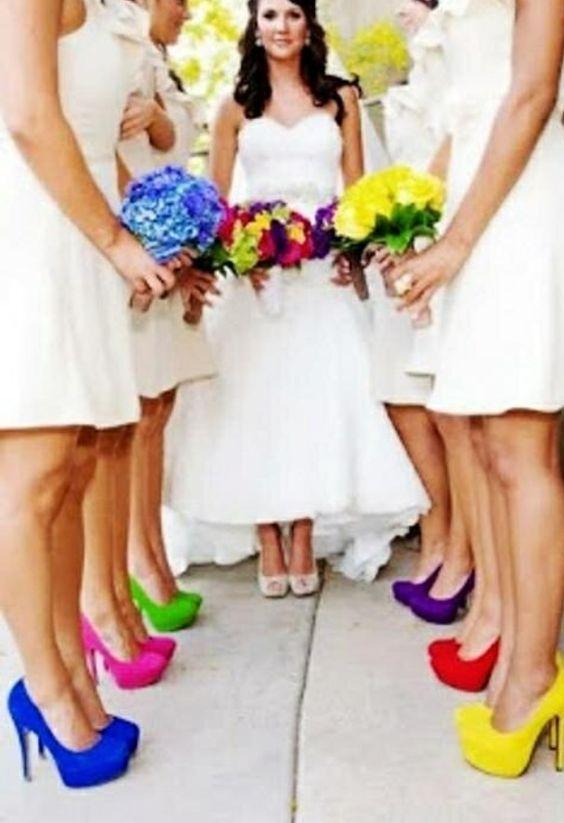 gökkuşağı düğün temalı