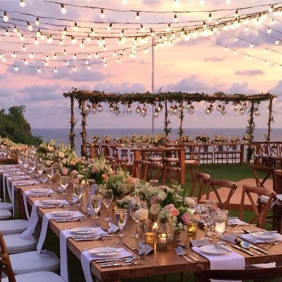 kır düğünü yemek masaları