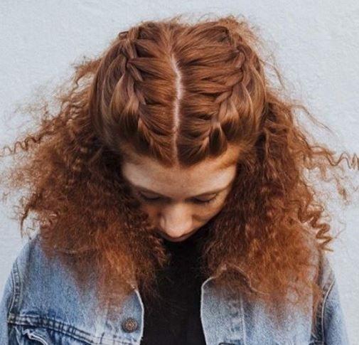 kıvırcık saça örgü modelleri