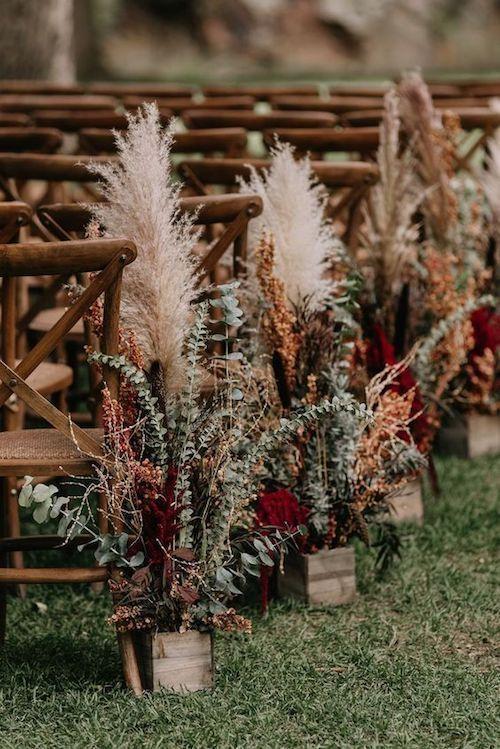 sonbahar düğünü dekoratif