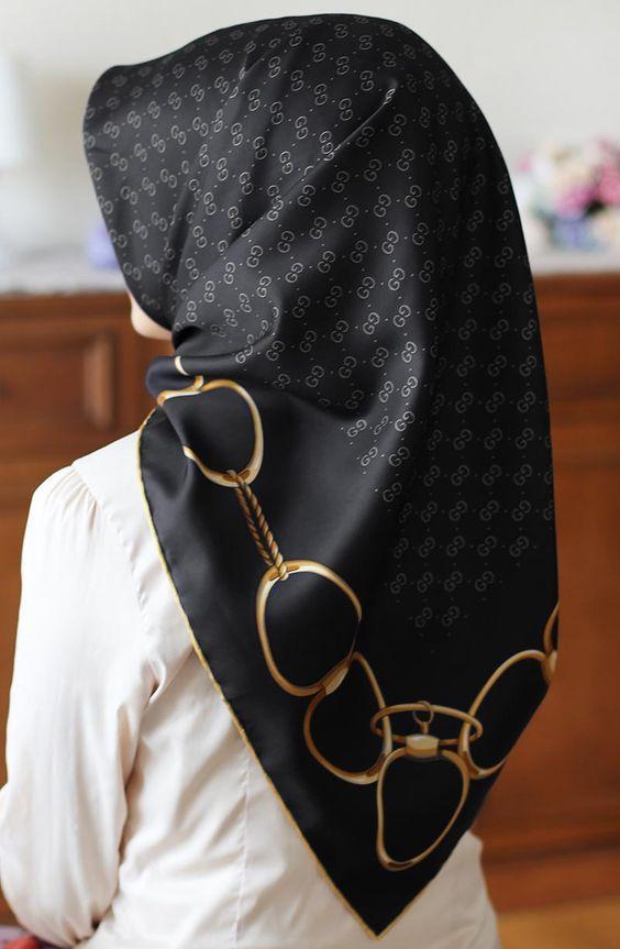 siyah eşarp modelleri
