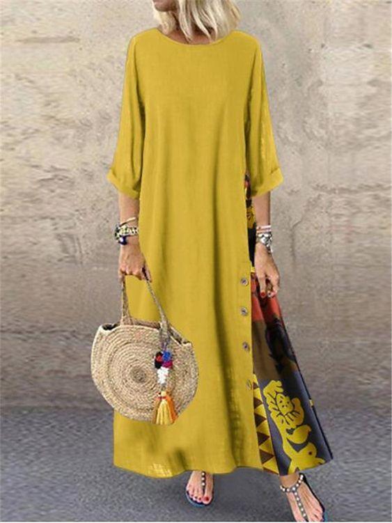 yazlık rahat elbise modeli