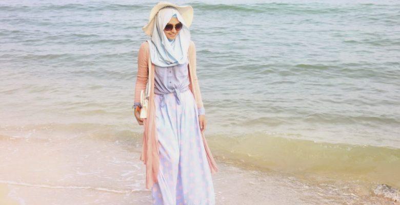 Tesettürlü Bayanlar İçin Sahil Giyim Kombini
