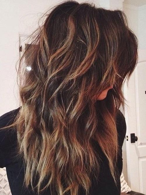 katlı kesim uzun saç modelleri