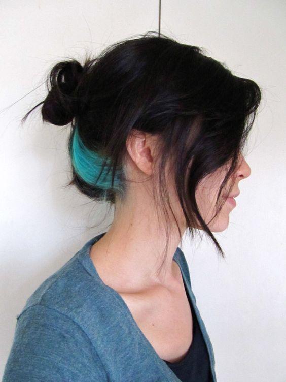 kulak arkası renkli saç boyatma