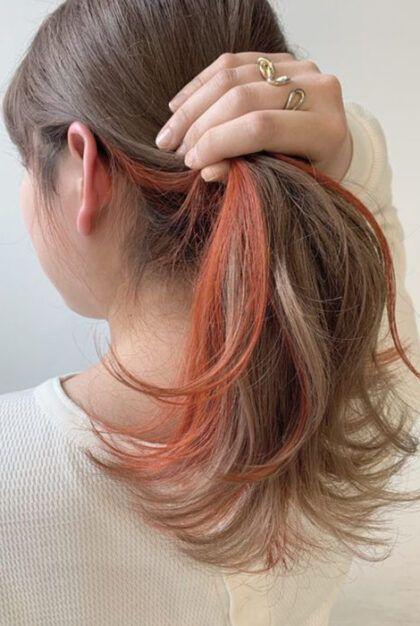 kulak arkası saç boyama