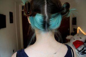Kulak Arkası Saç Boyama Modelleri