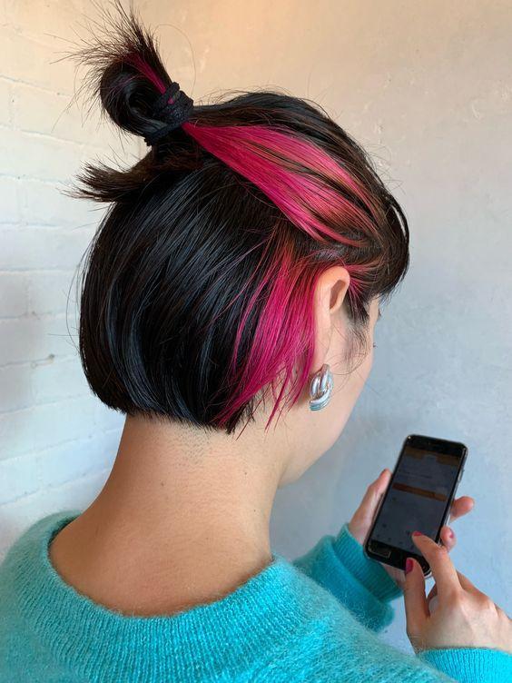 renkli saça boyatma