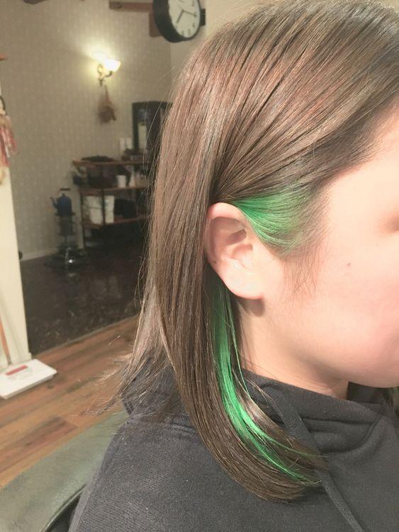 saçın bir kısmını renkli saç yapma