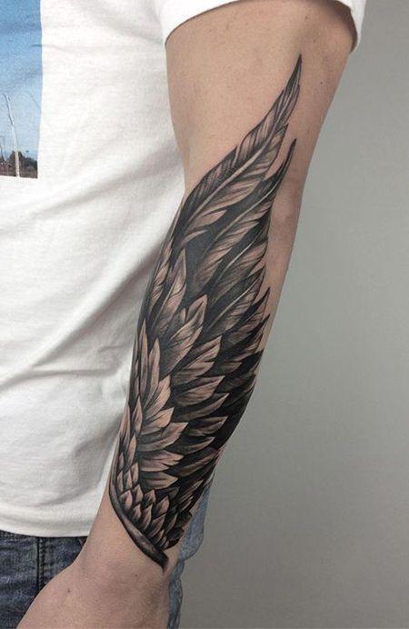 kuş tüyü dövme
