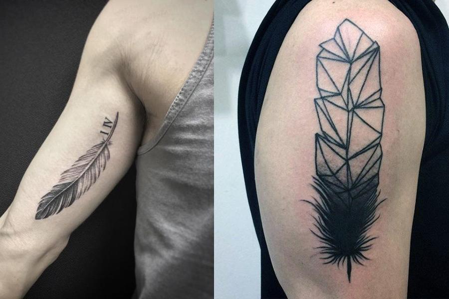 kuş tüyü erkek dövme