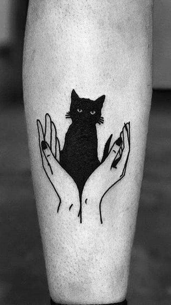 siyah kedi dövmeleri
