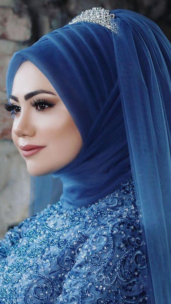 mavi kına elbisesi makyajı