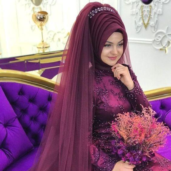 mor tesettür kına elbisesi modelleri