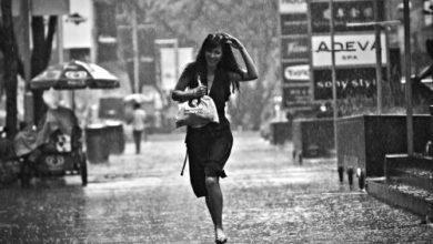 rüyada yağmurda ıslanmak