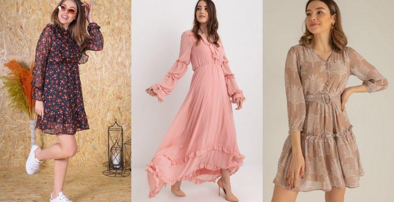 2021 Şifon Elbise Modelleri | Sezonun İddialı Tasarımları