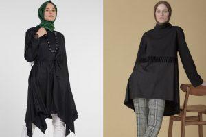 Siyah Tunik Modelleri ve Kombinleri 2021