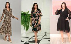 Büyük Beden Şifon Elbise Modelleri 2021