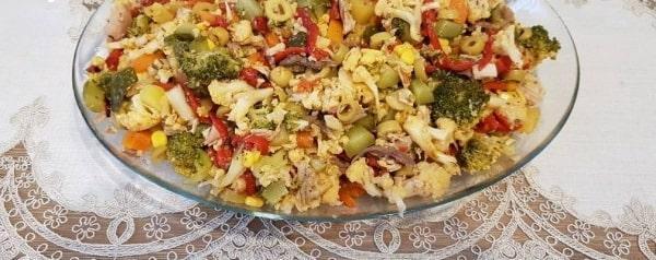 Fırın poşetinde karnabahar brokoli
