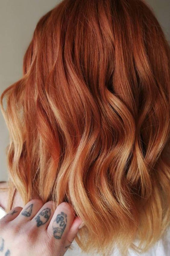 kızıl saç ombre