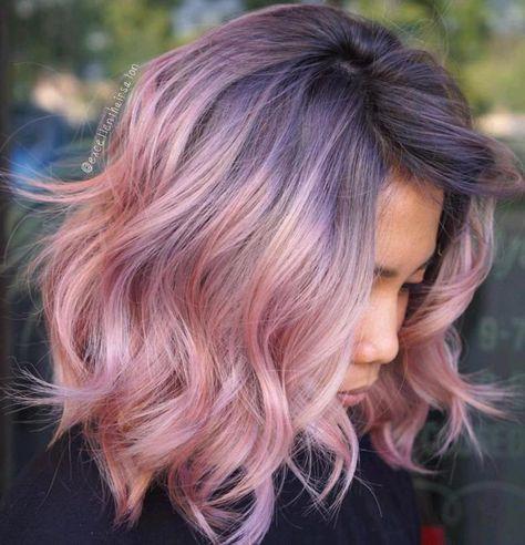 pink hair modals