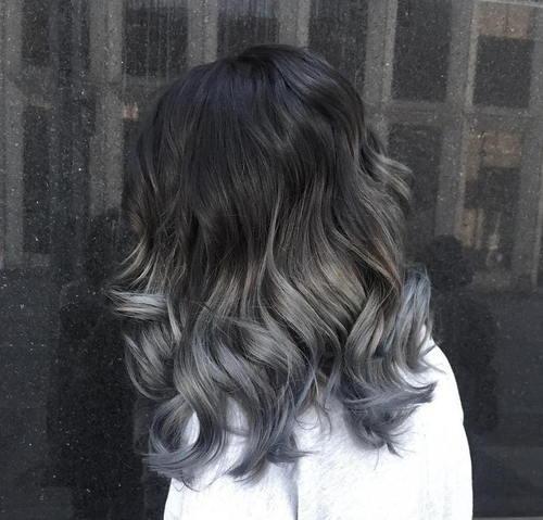 Siyah saça ombre