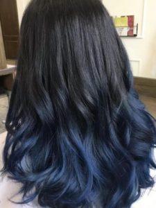 Mavi ombreli saç